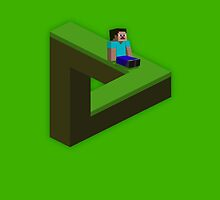 Minecraft Penrose Triangle by Mattrix