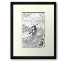 Tramp in search of identity Framed Print