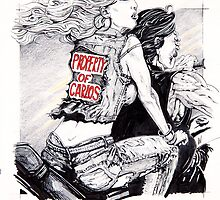 Property of Carlos album cover art by Andy  Westhoff