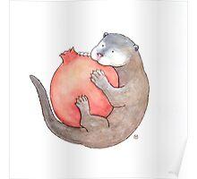 Otter & Pomegranate Poster