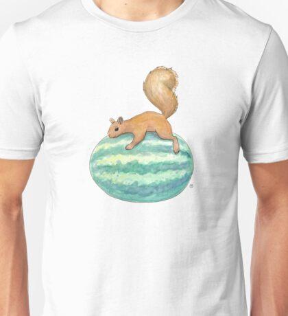 Squirrel & Watermelon Unisex T-Shirt