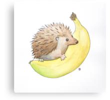 Hedgehog & Banana Canvas Print