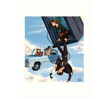 Doctor Who meets Harry Potter Art Print