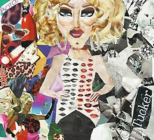 i wish i were sharon needles collage by Annecy Kenny