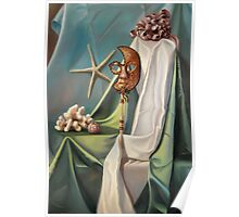 Corals and Venetian Mask Poster