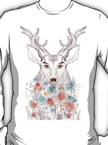 Deer and flowers T-Shirt