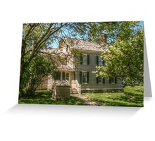 Grover Cleveland's Birthplace, Caldwell NJ, USA Greeting Card