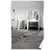 Plastic chairs Poster