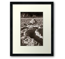 Abandoned Sandcastle Framed Print