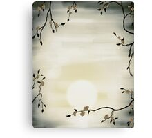 Cherry Blossom over sunrise sun art photo print Canvas Print