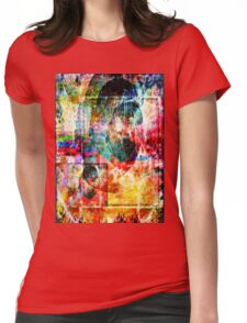 inside myself I hide the smiles Womens Fitted T-Shirt