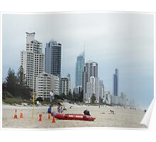 Surf Rescue Broadbeach April 2014 #2 Poster