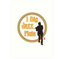 Jazz Flute Art Print