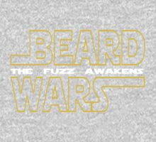 Beard Wars The Fuzz Awakens Men's Funny Beard Sci-fi T-Shirt. One Piece - Long Sleeve