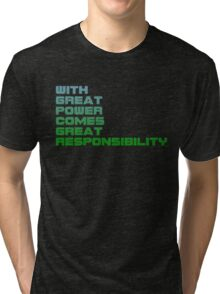 Spiderman - With Great Power Comes Great Responsibility Tri-blend T-Shirt