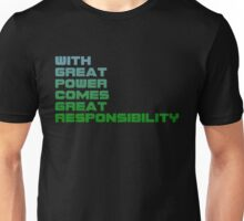Spiderman - With Great Power Comes Great Responsibility Unisex T-Shirt