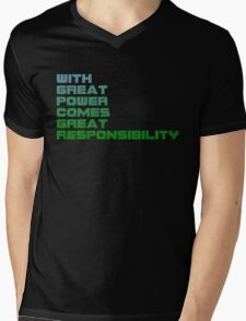 Spiderman - With Great Power Comes Great Responsibility Mens V-Neck T-Shirt