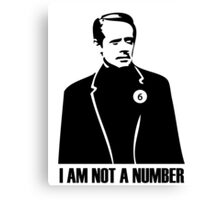 I Am Not A Number Canvas Print