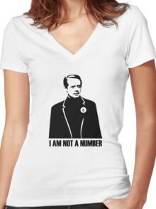 I Am Not A Number Women's Fitted V-Neck T-Shirt