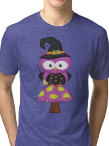 Witchy Owl  Tri-blend T-Shirt