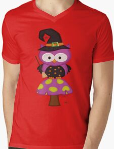 Witchy Owl  Mens V-Neck T-Shirt