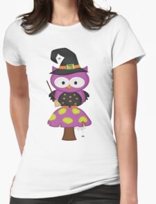 Witchy Owl  Womens Fitted T-Shirt
