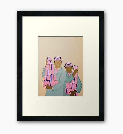 Zero and Gustave Framed Print