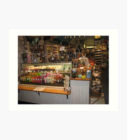 Stockholm Candy Shop Art Print