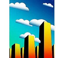 Tall Buildings And Low Clouds Photographic Print