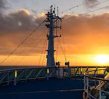 Top Deck Sunset by Tony Steinberg