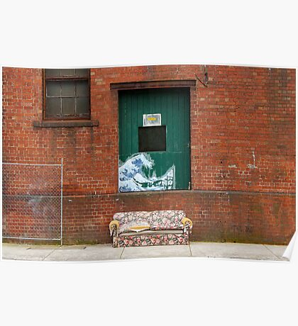 Brunswick Abandoned - Couch. Melbourne Poster