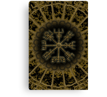 Vegvisir - Icelandic Magical Stave - Protection & Navigation  Canvas Print