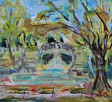 Park Darcy in April Dijon France by TerrillWelch