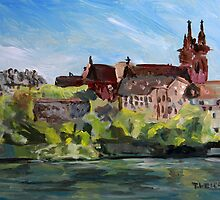 Rhine River Basel Switzerland by TerrillWelch