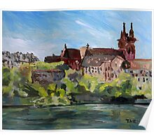 Rhine River Basel Switzerland Poster