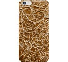 Wrinkled bronze aluminium foil background iPhone Case/Skin
