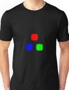 RBG Glowing Pixels Unisex T-Shirt
