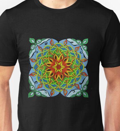 Fire Renewal Mandala Celtic Knot Unisex T-Shirt