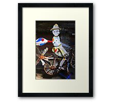 Bicycle Man Framed Print