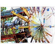 Covered Wagon Whirligig Poster