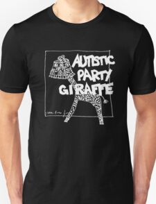 Autistic Party Giraffe - White Unisex T-Shirt