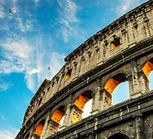 colosseum sunset by saaton