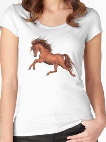 Chestnut Stallion  Women's Fitted Scoop T-Shirt