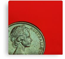 Red - Macro Coin Canvas Print