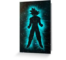 Goku Space Greeting Card