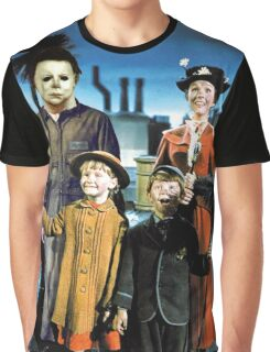Michael Myers in Mary Poppins Graphic T-Shirt