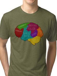 The brain of a Hannibal Fan Tri-blend T-Shirt