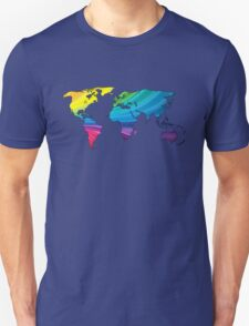 world map, rainbow colors T-Shirt