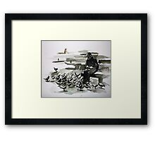 Daily practice Framed Print