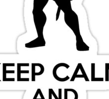 Keep Calm And Go The Distance Sticker